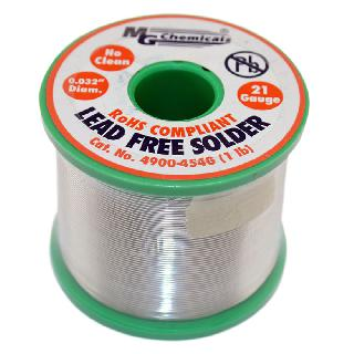 SOLDER WIRE LEAD FREE 1LB 21AWG 0.032IN SN96.3 AG3 CU0.7