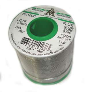 SOLDER WIRE LEAD FREE .032IN 1LB NO CLEAN MAINLY ALLOY