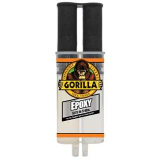 EPOXY FAST SET DUAL SYRINGE 25ML CLEAR GORILLA 5 MINUTES