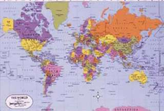 MAP OF WORLD PLACEMAT 