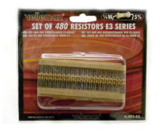 RESISTOR SET ASSORTED 1/4W 5% CF 30 EACH OF 16 VALUES