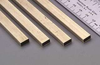 RECTANGLE BRASS TUBE 3/16X3/8IN 12IN