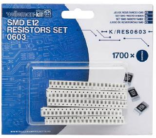 RES SMT 5% 0603 ASSORTED 85 DIFFERNT TYPES TOTAL 1.7KPCS