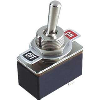TOGGLE SWITCH 1P1T 3A ON-OFF 125VAC TH SOL W/PLATE 12MM HOLE