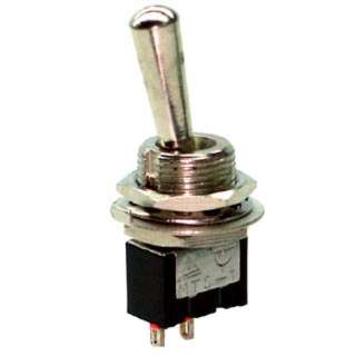 TOGGLE SWITCH 1P1T 6A ON-OFF 125VAC TH SOL 12MM HOLE