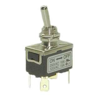 TOGGLE SWITCH 2P1T 15A ON-OFF 125VAC TH QT 12MM HOLE