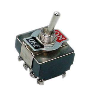 TOGGLE SWITCH 4P1T 15A ON-OFF 125VAC TH SCR 12MM HOLE 34X37MM