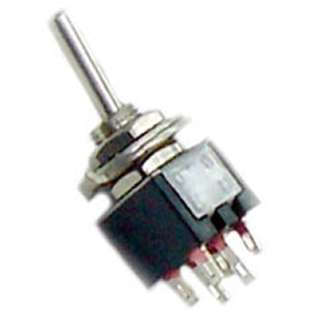 TOGGLE SWITCH 2P2T 3A ON-NONE-ON 125VAC TH SOL 5MM HOLE