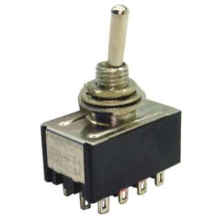 TOGGLE SWITCH 4P2T 6A ON-NONE-ON 125VAC TH SOL 6MM HOLE