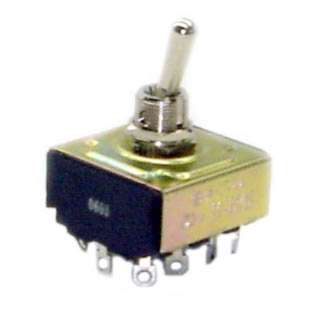 TOGGLE SWITCH 4P2T 16A ON-NONE- ON 125VAC TH SOL 12MM HOLE