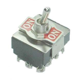 TOGGLE SWITCH 4P2T 15A ON-NONE- ON 125VAC TH SCR 12MM HOLE