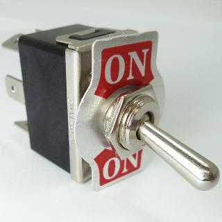 TOGGLE SWITCH 2P2T 20A ON-NONE- ON 125VAC TH QT 12MM HOLE