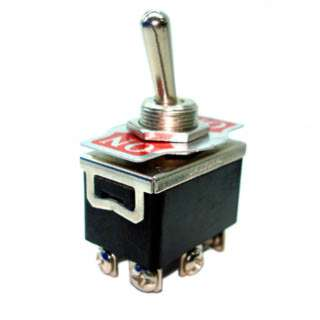 TOGGLE SWITCH 2P2T 20A ON-NONE- ON 125VAC TH SCR 12MM HOLE