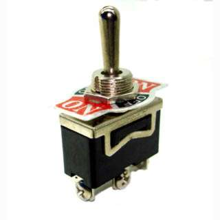 TOGGLE SWITCH 1P2T 10A ON-OFF-ON 125VAC TH SCR W/PLATE 12MM HOLE