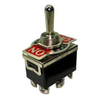TOGGLE SWITCH 2P2T 20A ON-OFF-ON 125VAC TH SCR 12MM HOLE
