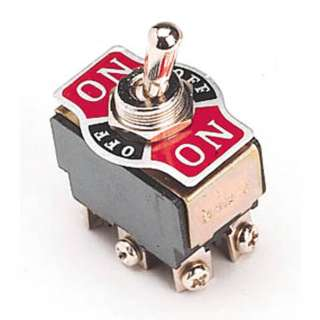 TOGGLE SWITCH 2P2T 10A ON-OFF-ON 125VAC TH SCR W/PLATE 12MM HOLE