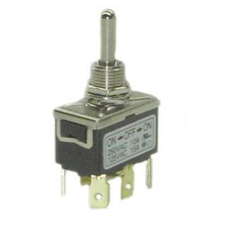 TOGGLE SWITCH 2P2T 15A ON-OFF-ON 125VAC TH QT 12MM HOLE