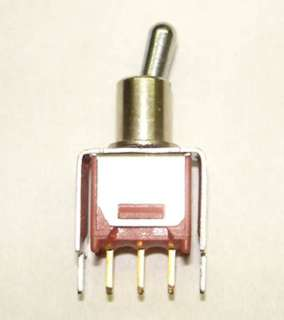 TOGGLE SWITCH 1P2T 20MA ON-NONE- ON 20V UNTH PCST 5MM HOLE