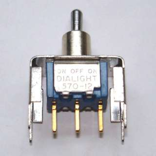 TOGGLE SWITCH 1P2T 20MA ON-OFF- ON 20V UNTH PCST BRKT 6.3MM HOLE