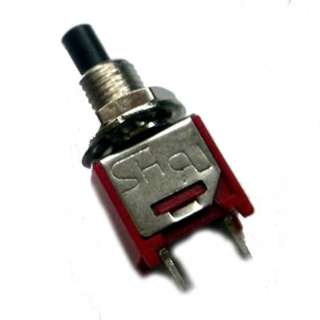 PUSH SWITCH MOM 1P1T NO THR RED SOL 4MM 1A/125VAC