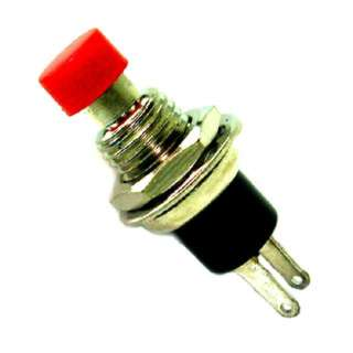 PUSH SWITCH MOM 1P1T NO THR RED SOL 7MM 1A/125VAC