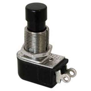 PUSH SWITCH MOM 1P1T NO THR SOL 12MM RA 4A 125V 2A 250V