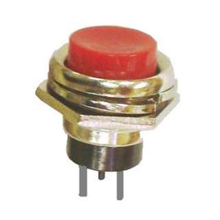 PUSH SWITCH MOM 1P1T NO THR SOL 16MM RED CAP 4A/125VAC~;2A/250VA
