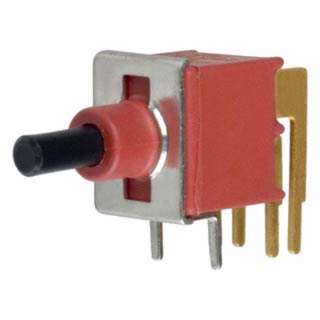 PUSH SWITCH MOM 2P1T NO PCRA UNT UNTH 8MMX9MM SQ