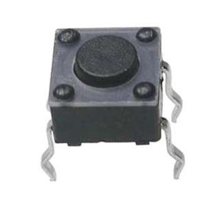 PUSH SWITCH MOM 1P1T NO PCST SQ 6X6MM BLK