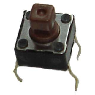 PUSH SWITCH MOM 1P1T NO PCST 6X6MM SQ ACTUATOR BROWN