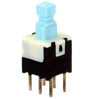 PUSH SWITCH MOM 2P2T NO/NC PCST UNTHR 6MM SQ