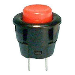 PUSH SWITCH MOM 1P1T NO SNAP SOL RED 16MM 3A/125VAC