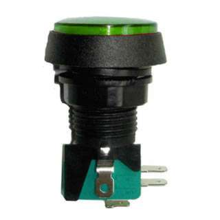 PUSH SWITCH LIT MOM GRN 1P2T 36 MM NO/NC ROUND 10A 125/250V QUIC