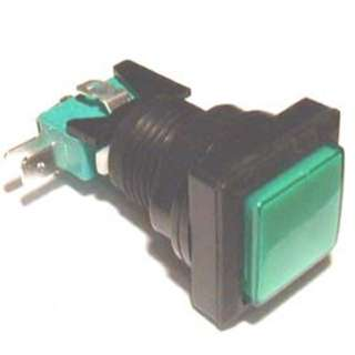 PUSH SWITCH LIT MOM GRN 1P2T 24 MM NO/NC SQUARE 10A 125/250V QC