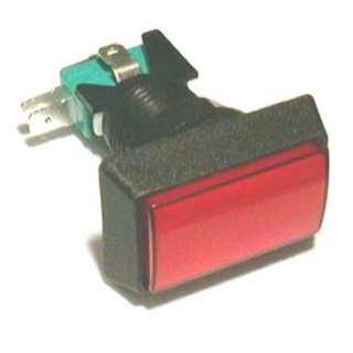 PUSH SWITCH LIT MOM RED 1P2T 24 MM NO/NC RECT 10A 125/250V QUICK