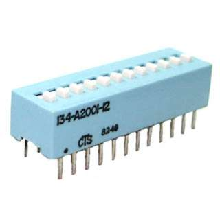 DIP SWITCH STD 12SW 24PINS SLIDE 