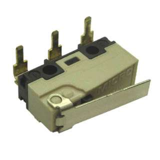 MICRO SWITCH 1P2T NO/NC 19X9MM 16MM ST LEVER 5A 250VAC PCRA