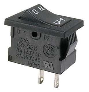ROCKER SWITCH 1P1T 5A ON-OFF 125VAC SOL 13X20MM BLK