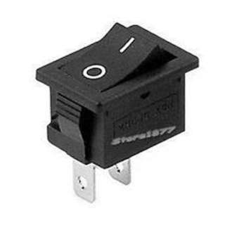 ROCKER SWITCH 1P1T 16A ON-OFF 125VAC QT 11X30MM BLK
