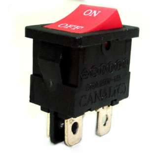 ROCKER SWITCH 2P1T 12A ON-OFF 125VAC QT 13X20MM ACTU RED