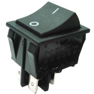 ROCKER SWITCH 2P1T 16A ON-OFF 125VAC QT 22X30MM BLK
