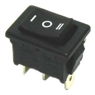ROCKER SWITCH 1P2T 10A ON-OFF-ON 125VAC QT 13X20MM BLK