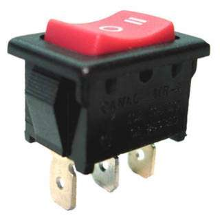 ROCKER SWITCH 1P2T 10A ON-OFF-ON 125VAC QT 13X20MM ACTU RED