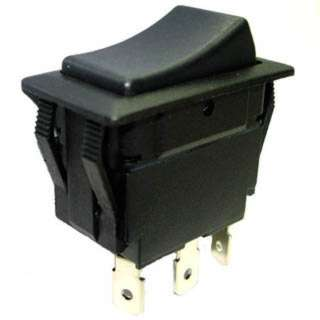 ROCKER SWITCH 1P2T 5A ON-OFF-ON 12VDC QT 21X38MM BLK