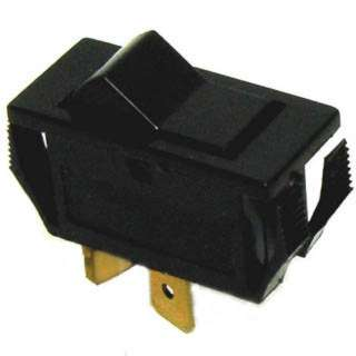 ROCKER SWITCH MOM 1P1T 8A (ON)- OFF 250VAC QT 12X28MM BLK