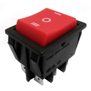ROCKER SWITCH MOM 2P2T 16A (ON)- OFF-(ON) 125VAC QT 22X30MM RED