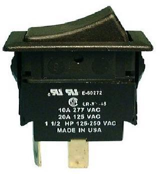 ROCKER SWITCH 2P2T 20A ON-OFF-ON 125VAC QT 21X38MM