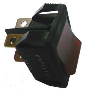 ROCKER SWITCH LIT 1P1T 20A ON- OFF 125VAC QT 22X28MM ACTU RED
