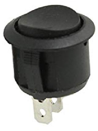 ROCKER SWITCH 1P1T 10A ON-OFF 125VAC QT ROUND 19MM SNAP-IN