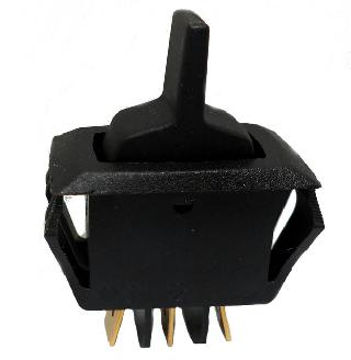 PADDLE SWITCH 1P2T 16A ON-OFF-ON 125VAC BLK